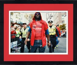 Framed David Ortiz Boston Red Sox 2013 World Series Champions Autographed 16'' x 20'' Parade Photograph with Boston Strong Inscription