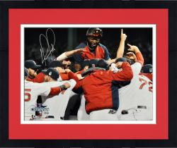 Framed David Ortiz Boston Red Sox 2013 World Series Champions Autographed 16'' x 20'' Team Celebration Photograph