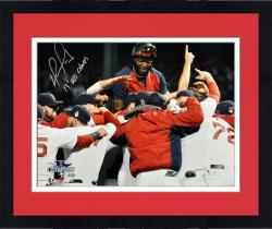 Framed David Ortiz Boston Red Sox 2013 World Series Champions Autographed 16'' x 20'' Team Celebration Photograph with 2013 WS Champs Inscription
