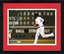 "Framed David Ortiz Boston Red Sox 2013 World Series Champions Autographed 8"" x 10"" Green Monster Photograph"