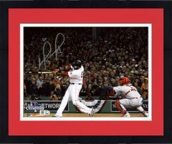 Framed David Ortiz Boston Red Sox 2013 World Series Champions Autographed 8'' x 10'' Home Run Swing 2 Photograph