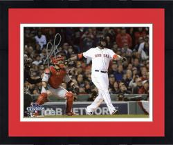 "Framed David Ortiz Boston Red Sox 2013 World Series Champions Autographed 8"" x 10"" Home Run Swing Photograph"