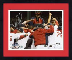Framed David Ortiz Boston Red Sox 2013 World Series Champions Autographed 8'' x 10'' Team Celebration Photograph