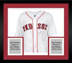 Framed David Ortiz Boston Red Sox 2013 World Series Champions Autographed Home World Series Majestic Replica Jersey with 2013 WS MVP Inscription