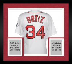Framed David Ortiz Boston Red Sox 2013 World Series Champions Autographed Majestic Replica Home Jersey with 2013 WS MVP Inscription
