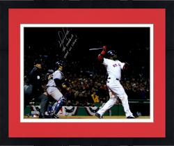 "Framed David Ortiz Boston Red Sox Autographed 16"" x 20"" 2004 ALCS Photograph with Multiple Inscriptions"