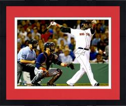 "Framed David Ortiz Boston Red Sox Autographed 16"" x 20"" World Series Swing Photograph"