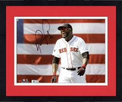 Framed David Ortiz Boston Red Sox Autographed 8'' x 10'' Smiling Photograph