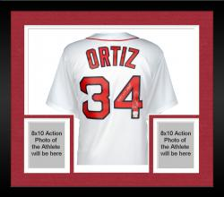 Framed David Ortiz Boston Red Sox Autographed Home Majestic Replica Jersey with 13 WS MVP Inscription