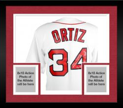 Framed David Ortiz Boston Red Sox Autographed Home Majestic Replica Jersey with Multiple Inscription-Limited Edition of 34