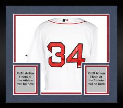 Framed David Ortiz Boston Red Sox Autographed Majestic Authentic White Jersey