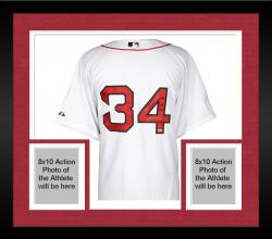 Framed David Ortiz Boston Red Sox Autographed Majestic Authentic White Jersey with 2013 WS MVP Inscription