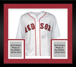 Framed David Ortiz Boston Red Sox 2013 World Series Champions Autographed Majestic Replica Home Jersey