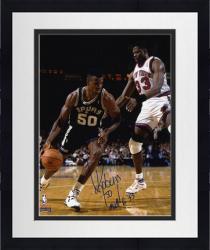 "Framed David Robinson San Antonio Spurs 8"" x 10"" Dribble Autographed Photo"