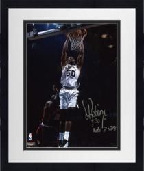 "Framed David Robinson San Antonio Spurs Autographed 8"" x 10"" Photograph with Acts 2:38 Inscription"