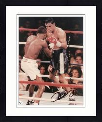 Framed Oscar De La Hoya Autographed 8'' x 10'' In Ring Photograph