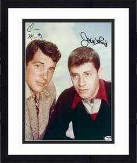 """Framed Dean Martin And Jerry Lewis Autographed 11"""" x 14"""" The Martin And Lewis Show Photograph - PSA/DNA LOA"""