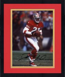 Framed Deion Sanders San Francisco 49ers Autographed 8'' x 10'' With Ball Photograph