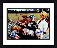 "Framed Dennis Hopper, Jack Nicholson, & Peter Fonda Autographed 11"" x 14"" Easy Rider Motorcylce  Photograph - BAS COA"