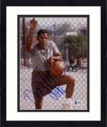 "Framed Denzel Washington Autographed 8""x 10"" Holding Baksetball Photograph - Beckett COA"