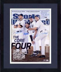 Framed Derek Jeter, Mariano Rivera, Jorge Posada, and Andy Pettitte New York Yankees Autographed 16'' x 20'' Photograph