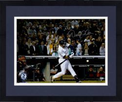 "Framed Derek Jeter New York Yankees Autographed 16"" x 20"" Final Hit at Yankee Stadium Photograph"
