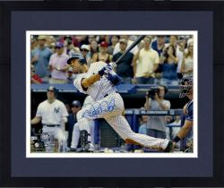Framed Derek Jeter New York Yankees Autographed 16'' x 20'' Horizontal 3000th Hit Swing Photograph