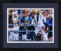 "Framed Derek Jeter New York Yankees Autographed 16"" x 20"" Horizontal Run 3000th Hit Photograph"