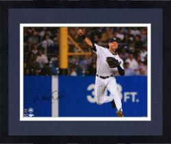 "Framed Derek Jeter New York Yankees Autographed 16"" x 20"" Jump Throw Photograph"
