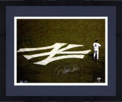 "Framed Derek Jeter New York Yankees Autographed 16"" x 20"" NY Emblem Photograph"