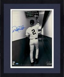 Framed Derek Jeter New York Yankees Autographed 16'' x 20'' Sepia Tunnel Photograph