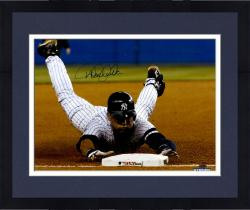 "Framed Derek Jeter New York Yankees Autographed 16"" x 20"" Sliding Into 3rd Base Photograph"