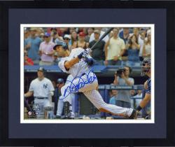 Framed Derek Jeter New York Yankees Autographed 8'' x 10'' Horizontal 3000th Hit Swing Photograph