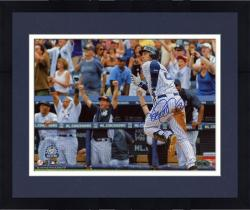 "Framed Derek Jeter New York Yankees Autographed 8"" x 10"" Horizontal Run 3000th Hit Photograph"