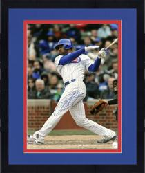 "Framed Derrek Lee Chicago Cubs Autographed 16"" x 20"" Photograph"