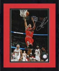 "Framed Derrick Rose Chicago Bulls Autographed 8"" x 10"" Action Photograph"