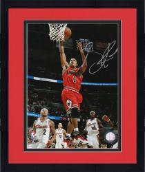 "Framed Derrick Rose Chicago Bulls Autographed 8"" x 10"" Action Photograph"