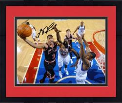 "Framed Derrick Rose Chicago Bulls Autographed 8"" x 10"" vs. Philadelphia 76ers Photograph"