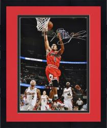 "Framed Derrick Rose Chicago Bulls Autographed 16"" x 20"" Action Photograph"