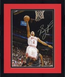 "Framed Derrick Rose Chicago Bulls Autographed 8"" x 10"" vs. Miami Heat Photograph"