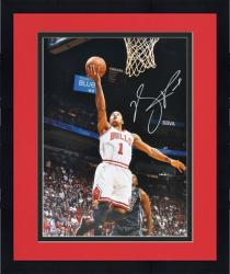 "Framed Derrick Rose Chicago Bulls Autographed 16"" x 20"" vs. Miami Heat Photograph"