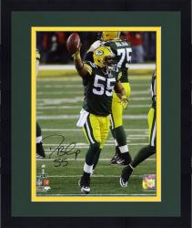 "Framed Desmond Bishop Green Bay Packers Super Bowl XLV Autographed 8"" x 10"" Photograph"