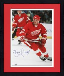 "Framed Detroit Red Wings Brett Hull Autographed 16"" x 20"" Photo"