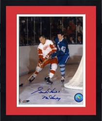 """Framed Gordie Howe Detroit Red Wings Autographed 8"""" x 10"""" vs. Toronto Maple Leafs Photograph with Mr. Hockey Inscription"""