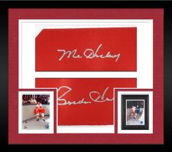 Framed Detroit Red Wings Gordie Howe Autographed Jersey ---