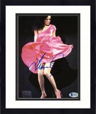 """Framed Diana Ross Autographed 8""""x 10"""" Dancing in Pink Dress Photograph - Beckett COA"""