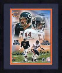 Framed Dick Butkus and Brian Urlacher Chicago Bears Autographed 8'' x 10'' Collage Photograph