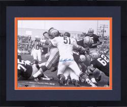 Framed Dick Butkus Chicago Bears Autographed 16'' x 20'' Packers Pile Photograph