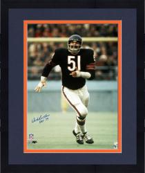 "Framed Dick Butkus Chicago Bears Autographed 16"" x 20"" Navy Uniform Photograph with HOF 79 Inscription"