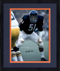 "Framed Dick Butkus Chicago Bears Autographed 16"" x 20"" Waiting For Play Photograph with HOF 1979 Inscription"